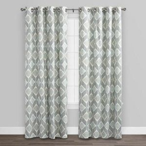 World Market - Indigo Blue Cotton Morris Curtains